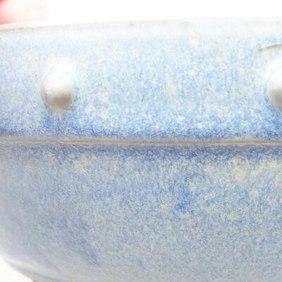 Keramische Bonsai-Schale 21 x 21 x 7 cm, Farbe blau - 2