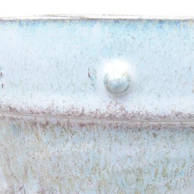 Keramische Bonsai-Schale 19,5 x 19,5 x 6,5 cm, Farbe blau - 2