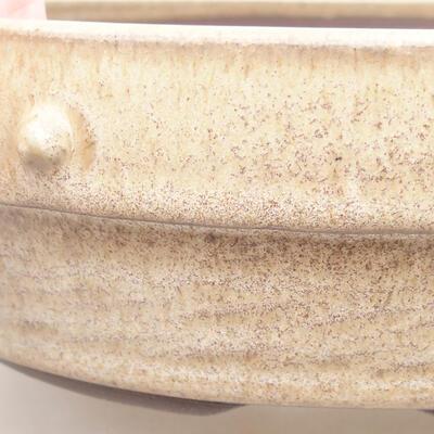 Keramische Bonsai-Schale 18 x 18 x 5,5 cm, beige Farbe - 2