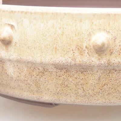Keramische Bonsai-Schale 21,5 x 21,5 x 5,5 cm, beige Farbe - 2