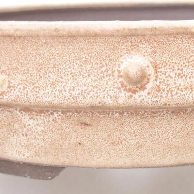 Keramische Bonsai-Schale 19,5 x 19,5 x 4,5 cm, beige Farbe - 2