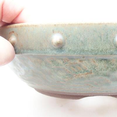 Keramische Bonsai-Schale 19 x 19 x 6 cm, Farbe grün - 2