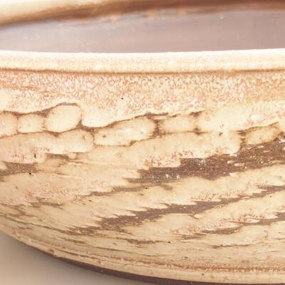 Keramische Bonsai-Schale 36,5 x 36,5 x 9,5 cm, beige Farbe - 2