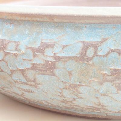 Keramische Bonsai-Schale 38 x 38 x 9 cm, Farbe blau - 2
