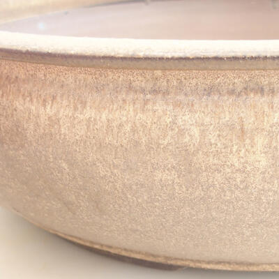 Keramische Bonsai-Schale 37,5 x 37,5 x 10,5 cm, braune Farbe - 2
