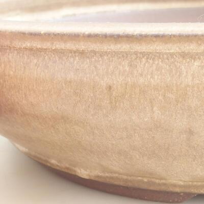 Keramische Bonsai-Schale 37,5 x 37,5 x 9 cm, braune Farbe - 2