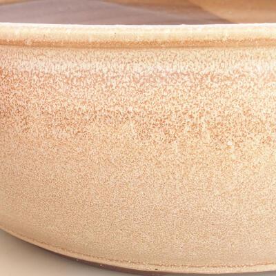 Bonsai-Keramikschale 37 x 37 x 12,5 cm, beige Farbe - 2