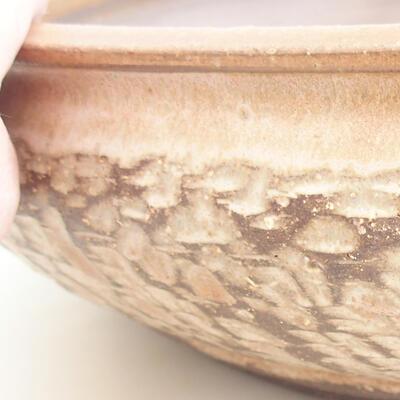 Keramische Bonsai-Schale 37 x 37 x 9 cm, beige Farbe - 2