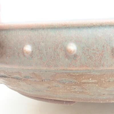 Keramische Bonsai-Schale 35 x 35 x 8 cm, Farbe grün - 2