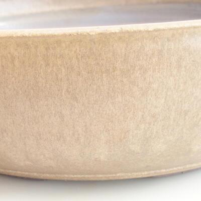 Keramische Bonsai-Schale 37 x 37 x 10 cm, Farbe braun - 2