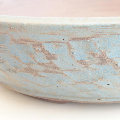 Keramische Bonsai-Schale 38 x 38 x 8,5 cm, Farbe grün-blau - 2