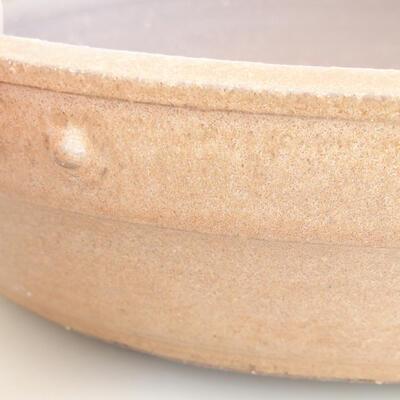 Keramische Bonsai-Schale 33,5 x 33,5 x 8 cm, beige Farbe - 2