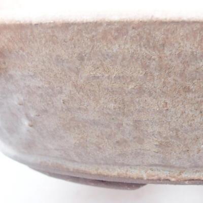 Keramische Bonsai-Schale 21 x 21 x 5 cm, Farbe braun - 2