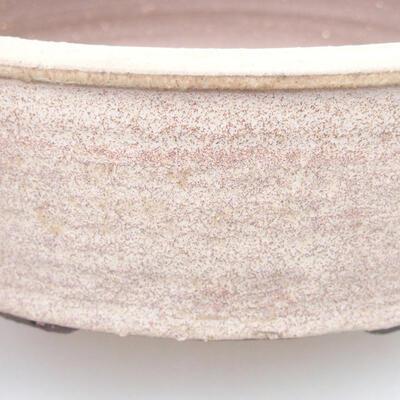 Keramik Bonsai Schüssel 20 x 20 x 6 cm, beige Farbe - 2
