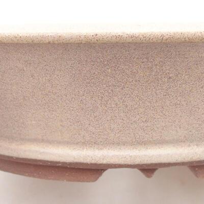 Keramische Bonsai-Schale 20,5 x 20,5 x 5,5 cm, beige Farbe - 2