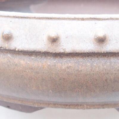 Keramische Bonsai-Schale 22,5 x 22,5 x 7 cm, beige Farbe - 2