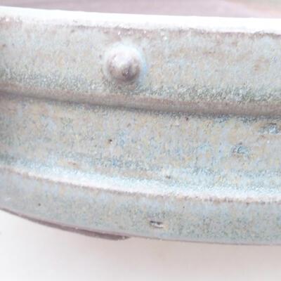 Keramische Bonsai-Schale 26,5 x 26,5 x 5,5 cm, graue Farbe - 2