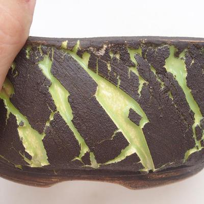 Keramische Bonsai-Schale 20,5 x 20,5 x 7,5 cm, Farbe rissig - 2