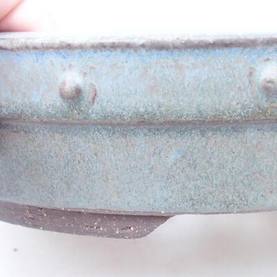 Keramische Bonsai-Schale 22 x 22 x 5 cm, Farbe grau - 2