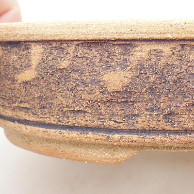 Keramische Bonsai-Schale 21 x 21 x 6 cm, Farbe braun - 2