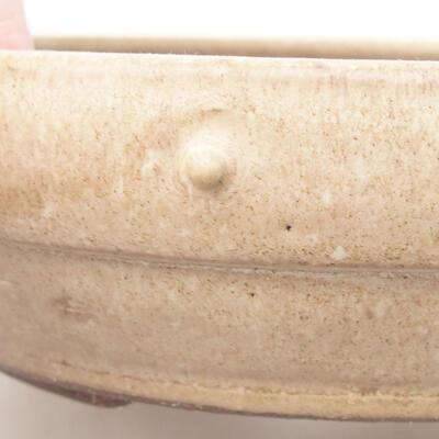 Keramik Bonsai Schüssel 20 x 20 x 5 cm, beige Farbe - 2