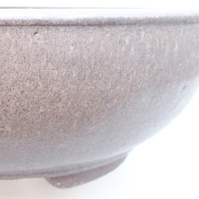 Keramische Bonsai-Schale 25 x 25 x 8 cm, Farbe grau - 2