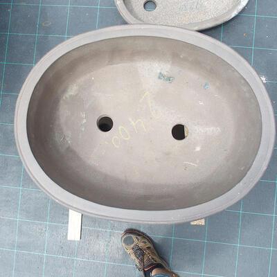 Bonsaischale 69 x 50 x 19 cm, graue Farbe - 2