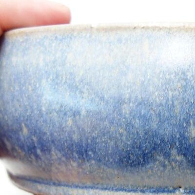 Bonsaischale aus Keramik 14,5 x 14,5 x 5 cm, Farbe blau - 2