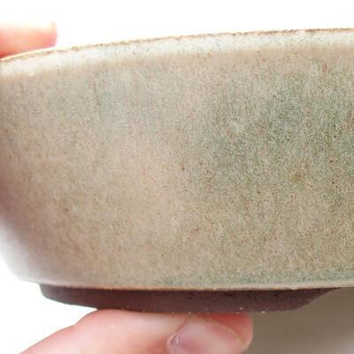 Bonsaischale aus Keramik 17 x 17 x 4 cm, Farbe beige - 2