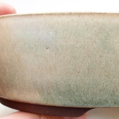 Bonsaischale aus Keramik 15,5 x 15,5 x 5 cm, Farbe beige - 2