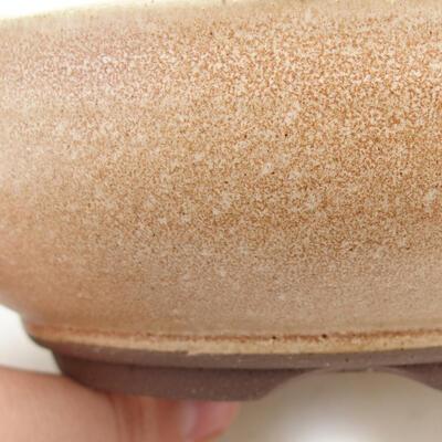 Bonsaischale aus Keramik 15 x 15 x 5 cm, Farbe beige - 2