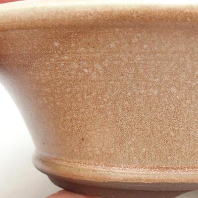Bonsaischale aus Keramik 16,5 x 16,5 x 6 cm, Farbe beige - 2