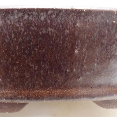 Bonsaischale aus Keramik 16,5 x 16,5 x 4 cm, braune Farbe - 2