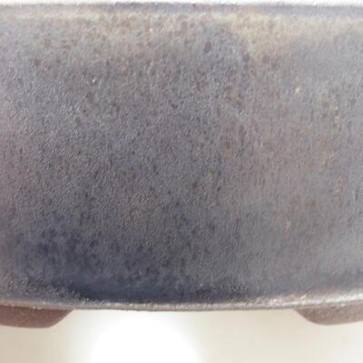 Bonsaischale aus Keramik 14 x 14 x 4 cm, Farbe braun - 2