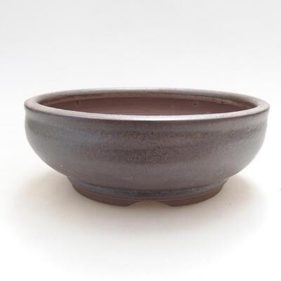 Bonsaischale aus Keramik 14 x 14 x 5,5 cm, braune Farbe - 2