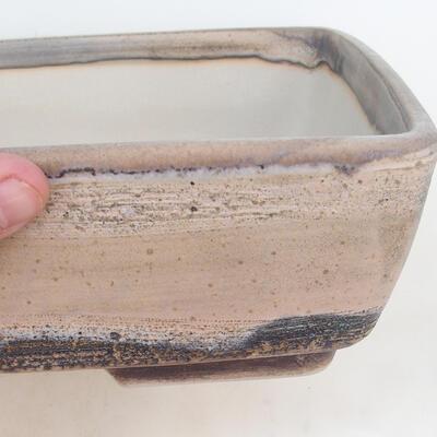 Bonsai-Schale 30 x 22 x 8 cm, grau-beige Farbe - 2