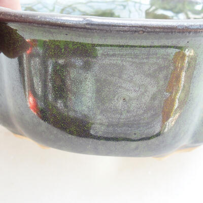 Bonsaischale aus Keramik 13 x 11 x 5,5 cm, Farbe grün - 2