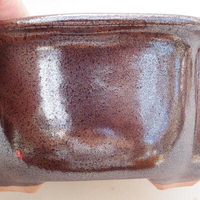 Bonsaischale aus Keramik 13 x 11 x 5,5 cm, braune Farbe - 2