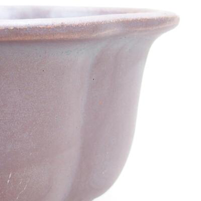 Bonsaischale aus Keramik 13 x 11 x 5,5 cm, metallfarben - 2