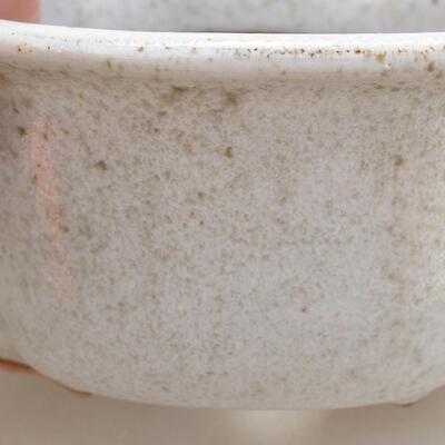 Bonsaischale aus Keramik 13 x 11 x 5,5 cm, weiße Farbe - 2