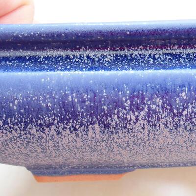 Bonsaischale aus Keramik 15,5 x 15,5 x 5,5 cm, Farbe blau - 2