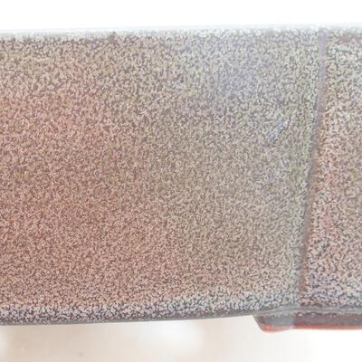 Bonsaischale aus Keramik 20,5 x 17 x 7 cm, Farbe grau - 2