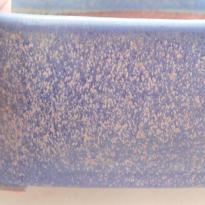 Bonsaischale aus Keramik 20,5 x 17 x 7 cm, Farbe blau - 2