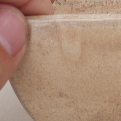 Bonsaischale aus Keramik 7,5 x 7,5 x 6 cm, Farbe beige - 2