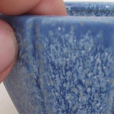 Bonsaischale aus Keramik 7 x 7 x 5,5 cm, Farbe blau - 2