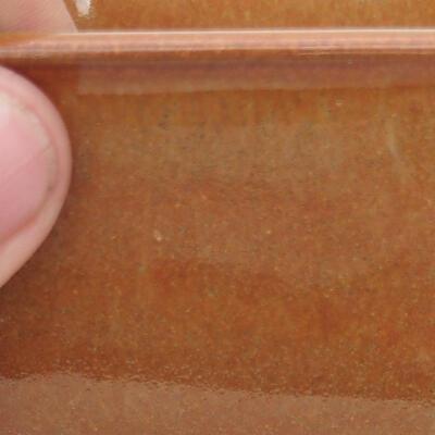 Bonsaischale aus Keramik 10 x 10 x 6 cm, Farbe braun-rostig - 2