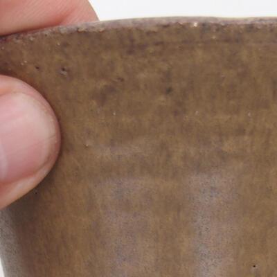 Bonsaischale aus Keramik 12 x 12 x 6,5 cm, Farbe braun - 2