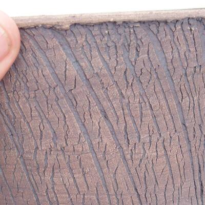 Bonsaischale aus Keramik 17 x 17 x 17 cm, Farbe rissig - 2
