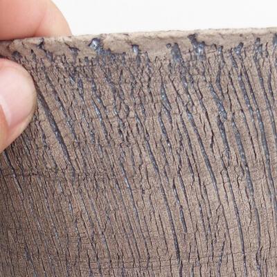 Bonsaischale aus Keramik 15 x 15 x 17 cm, Farbe rissig - 2
