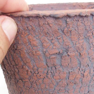 Bonsaischale aus Keramik 13,5 x 13,5 x 14,5 cm, Farbe rissig - 2